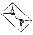 envelope or wrapper of a document vintage vector image vector image