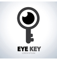 Eye key symbol icon vector image vector image
