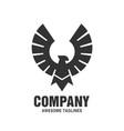 falcon eagle bird logo black color vector image vector image