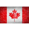 Flags Canada with broken glass texture vector image