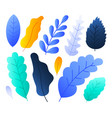 flat abstract colorful forest leaves set stock vector image vector image