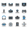 flat icons for virtual reality vector image vector image