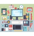 Flat modern design concept of creative office vector image