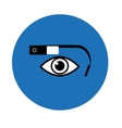 Google glass icon blue circle vector image vector image