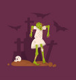 halloween nightmare landscape with dead girl vector image vector image