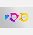 happy 2020 new year insta colour banner vector image vector image