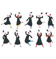 happy dancing graduates group celebrating vector image vector image