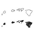 hawaii map vector image vector image