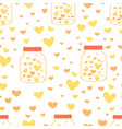 heart in mason jars pattern background vector image vector image