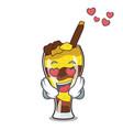 in love mangonada fruit mascot cartoon vector image vector image