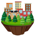 isolated island urban building vector image vector image