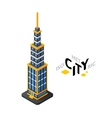 Isometric urban tower icon building city vector image vector image