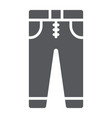 jeans glyph icon clothes and fashion trousers vector image vector image
