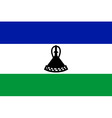 lesotho flag vector image vector image