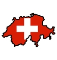 Map in colors of Switzerland vector image vector image