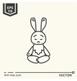 Meditative Animals series - hare vector image vector image
