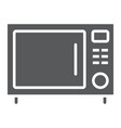 microwave oven glyph icon kitchen and cooking vector image vector image