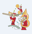 Military band line style vector image vector image