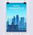 minneapolis famous city scape vector image vector image