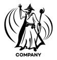 modern wizard logo vector image vector image