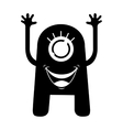 monster comic character icon vector image vector image