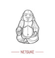 netsuke in hand drawn style vector image vector image