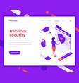 network security people and interact with folder vector image