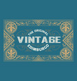 old label design western style vector image vector image
