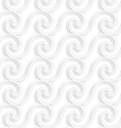 Paper white striped spiral waves vector image vector image