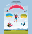 parajumping poster vector image vector image