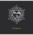 pentagram and sun in vector image