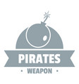 pirate bomb logo simple gray style vector image vector image
