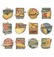 potato food products icons vector image