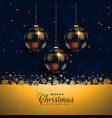 premium christmas balls festival background vector image vector image