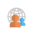 profile icon over world globe group user member vector image