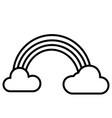 rainbow and clouds icon vector image
