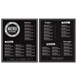 restaurant menu modern design layout vector image vector image