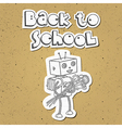 Robot back to school 01 vector image vector image