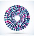 round motion object on white background vector image vector image
