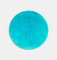 round spot of paint light blue color vector image