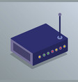 router device isometric icon vector image
