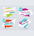 sale banners design discounts and special offer vector image