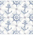 Seamless hand drawn nautical background vector image vector image