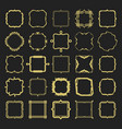 set of golden different styles emblems and frames vector image vector image