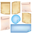 Set of paper isolated on white background vector image vector image