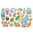 summer stickers set vector image