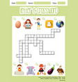 the letter e crossword vector image vector image
