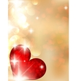 Valentines day with abstract hearts vector image