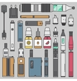 Vaping set vector image vector image