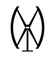 vertical wind turbine vector image vector image